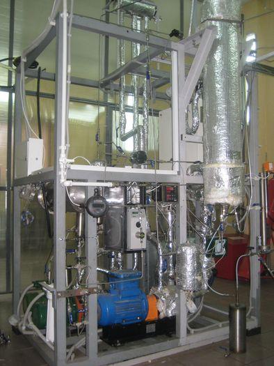 Экспериментальная установка исследования процесса алкилирования - Реакторный блок