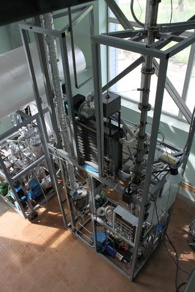 Экспериментальная установка исследования процесса алкилирования - Колонный блок