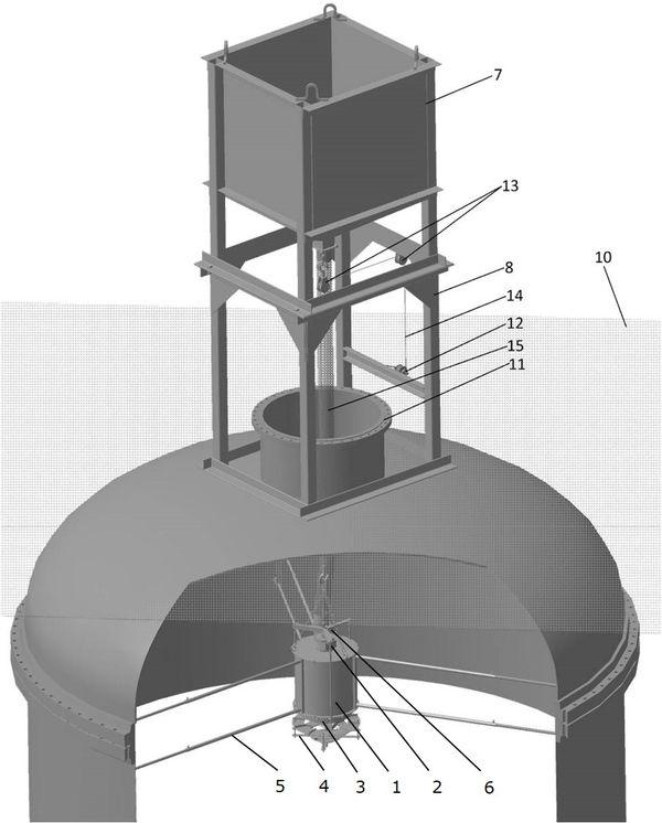 Рис. 2. Схема расположения устройства загрузочного внутри аппарата и вспомогательное оборудование