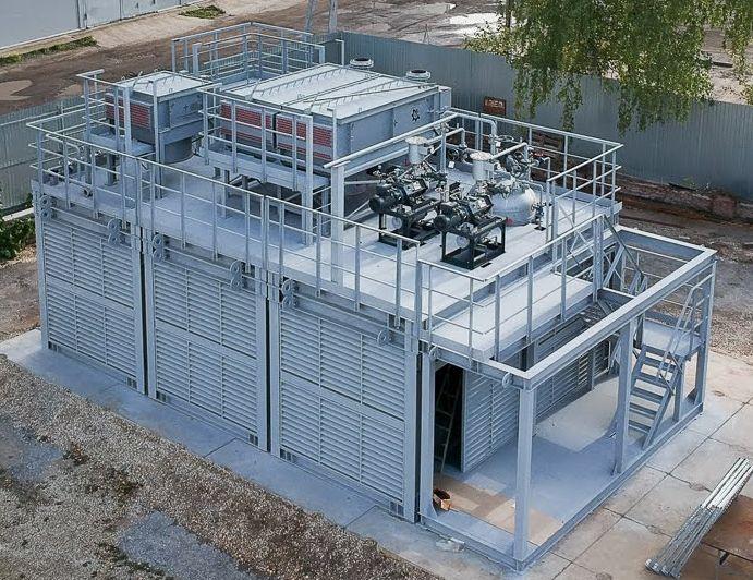 Модульная установка вакуумной ректификации газойля (для Малайзии) - вид снаружи