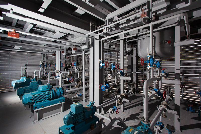 Модульная установка вакуумной ректификации газойля (для Малайзии) - вид изнутри