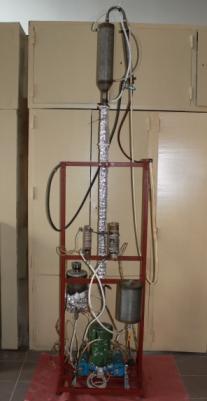 Экспериментальная установка для получения неокисленного битума из тяжелой высоковязкой нефти