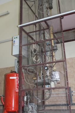 Экспериментальные установки для исследования процессов ректификации в насадочных колоннах на реальных средах (Р-50)